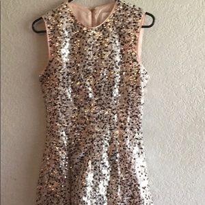 Kate Spade Light Pink w Rose Gold Sequins Dress 4